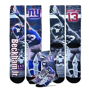 New York Giants Youth Size NFL Drive Crew Kids Socks (4-8 YRS) 1 Pair - Odell Beckham Jr.