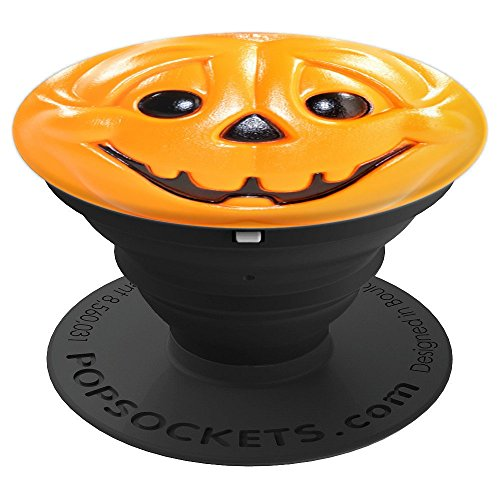 Happy Jack o Lantern Pumpkin Halloween Phone Handle - PopSockets Grip and Stand for Phones and Tablets]()