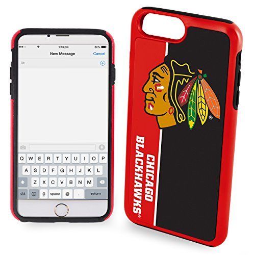(Forever Collectibles iPhone 8+/7+ Dual Hybrid Bold Case - NHL Chicago Blackhawks)