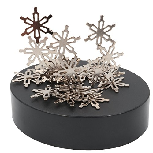 AblueA Magnetic Sculpture Desk Toy for Stress Relief and Intelligence Development (Oval Base – Snowflakes)