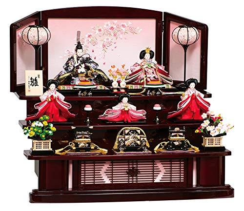 雛人形 平安豊久 ひな人形 雛 三段飾り 五人飾り 華穂 金彩 芥子親王 柳官女揃 h313-mo-303856 HD-030   B077X7SKQH
