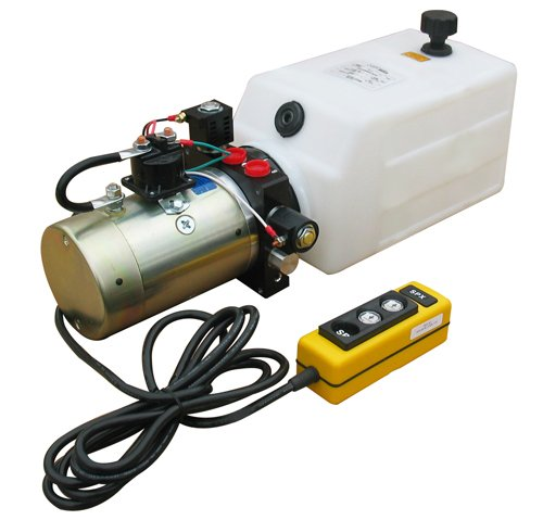 SPX Hydraulic Power Unit (12V DC, Double Acting): 1.5 GPM Flow, 8 Qt. Tank Poly @2000 PSI #6 SAE Port Size and Solenoid Operated with HPU Dimensions:25.5'' L x 7.75'' W x 8.5'' H by SPX (Image #2)