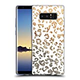 Official Monika Strigel Gold Animal Print Glitter Soft Gel Case for Samsung Galaxy Note8 / Note 8