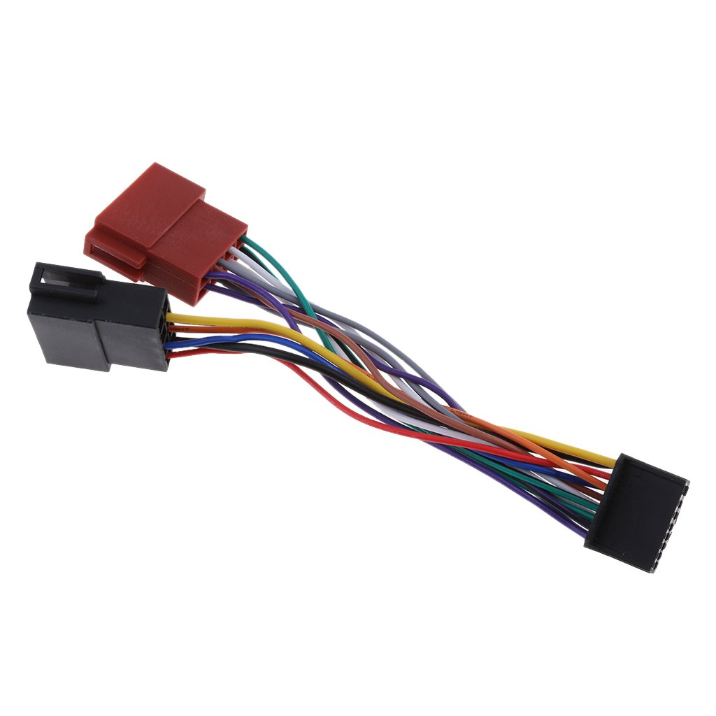 Stereo Radio Wire Adapter Plug Wiring Connector Cable Baoblaze Car Wiring Car ISO Harness Head Cable for New Pioneer 2015 16-Pin ISO Female