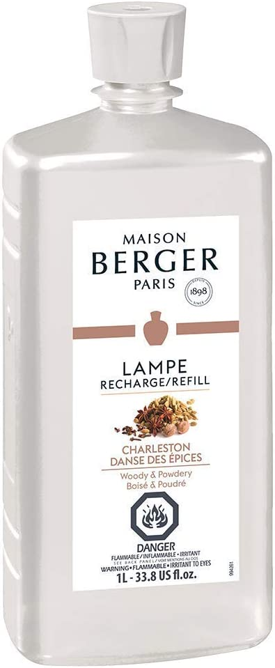Charleston | Lampe Berger Fragrance Refill for Home Fragrance Oil Diffuser | Purifying and perfuming Your Home | 33.8 Fluid Ounces - 1 Liter | Made in France