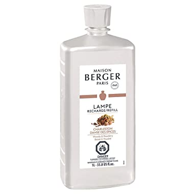 Charleston   Lampe Berger Fragrance Refill for Home Fragrance Oil Diffuser   Purifying and perfuming Your Home   33.8 Fluid Ounces - 1 Liter   Made in France