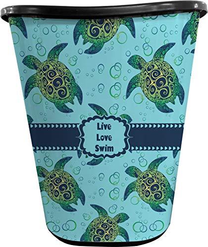 RNK Shops Sea Turtles Waste Basket - Single Sided (Black) (Personalized)