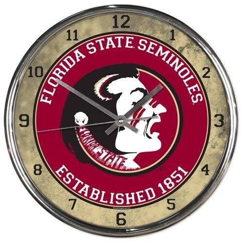 - Florida State Seminoles Round Chrome Wall Clock
