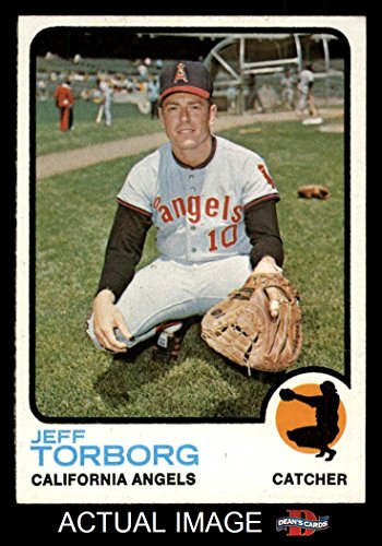 1973 Baseball (1973 Topps # 154 Jeff Torborg Los Angeles Angels (Baseball Card) Dean's Cards 8 - NM/MT Angels)