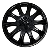 hubcaps for toyota corolla 2003 - TuningPros WSC-503B15 Hubcaps Wheel Skin Cover 15-Inches Matte Black Set of 4