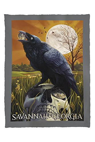 Raven and Moon - Savannah, GA (60x80 Poly Fleece Thick Plush Blanket)