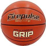 FIREPULSE Grip Basketball/Official Size&Weight/Indoor&Outdoor Game Basketball (Orange New)
