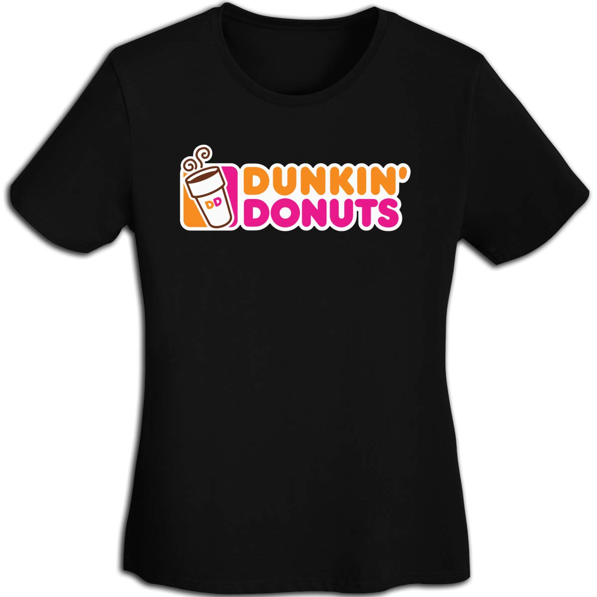 Womens Dunkin Donuts Logo Logo Tee Shirts Short Sleeve T Shirt for Women Tshirt Clothes