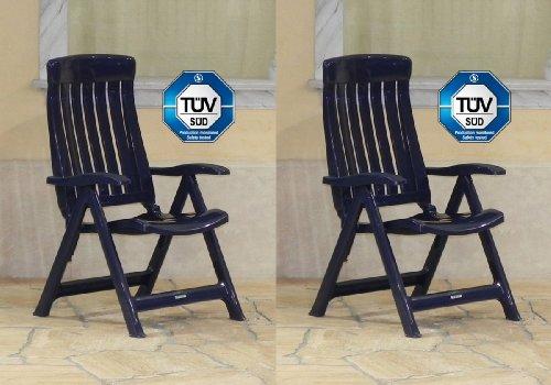 Amazon.de: 2x Steiner MARINA Klappstühle Gartenstühle klappbar ...