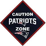 NFL New England Patriots Caution Wall Sign Plaque, 14″