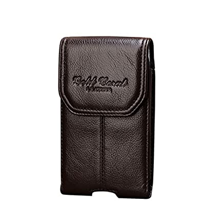 Genda 2Archer Mens Leather Belt Clip Pouch Cellphone Purse Mini Fanny Pack cheap
