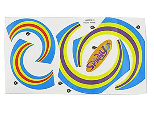 Fisher-Price Spinnyos Giant Yo-ller Coaster Track - Replacement Label Sheet CMN78 (Fisher Price Spinnyos Giant Yo Ller Coaster)