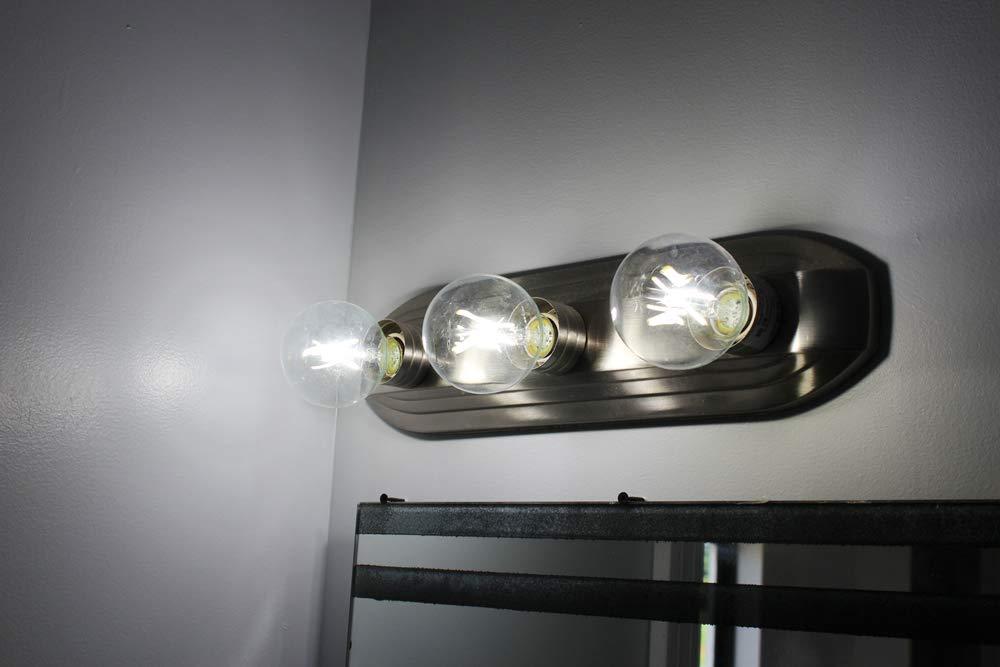 FLILED Dimmable LED Edison Globe Light Bulbs 40W Equivalent E26 Base 4000K, 15 Pack CRI90 5.5W LED Clear G25 Decorative Vanity Light Bulbs,2700K 4000K 5000K 450LM