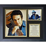 """Legends Never Die""""Merle Haggard"""" Framed Photo Collage, 11 x 14-Inch"""
