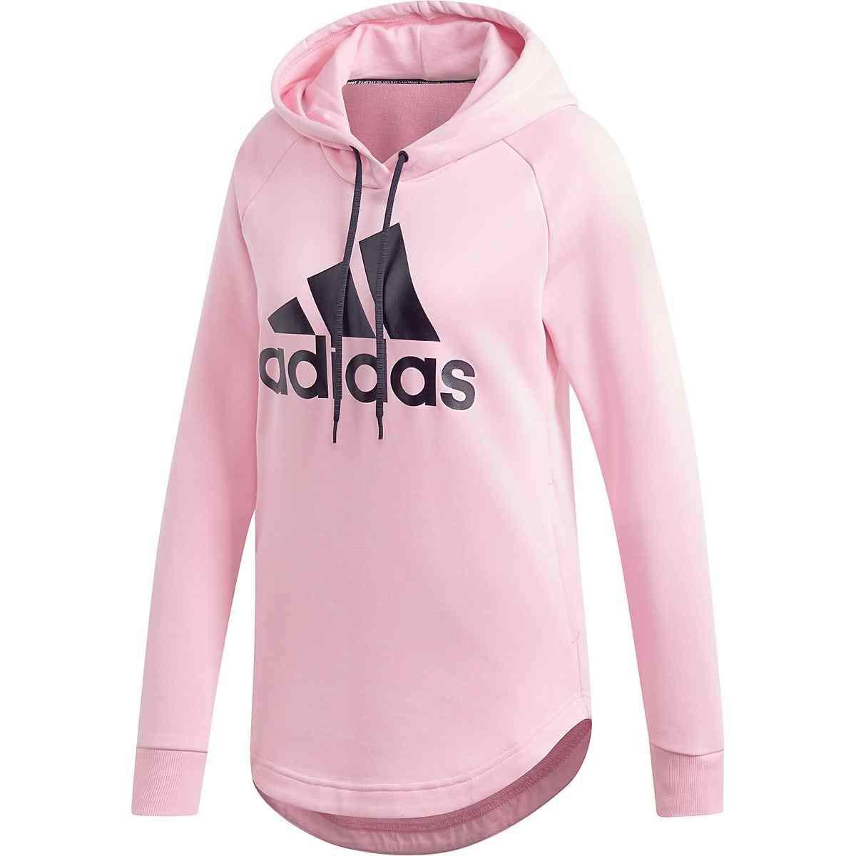 True PinkBlack adidas Women's Badge of Sport Over Head Hoodie