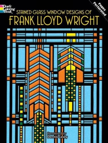 Stained Glass Window Designs of Frank Lloyd Wright (Dover Design Stained Glass Coloring - Online And Co Tiffany Buy