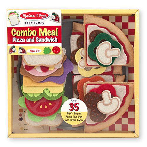 Melissa & Doug 37 Pc Felt Food Pizza/Sandwich Combo Meal (Felt Food Sandwich Set compare prices)