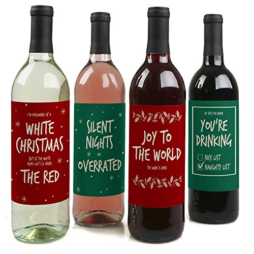 Red Green Christmas Holiday Bottle