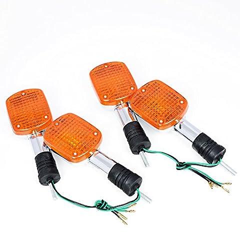 4pcs Motorbike Blinker Turn Signal Light Lamp Direct Fit Honda REBEL CA250 400 CMX250 CMX400 MAGNA VF250 (Rebel Offroad)