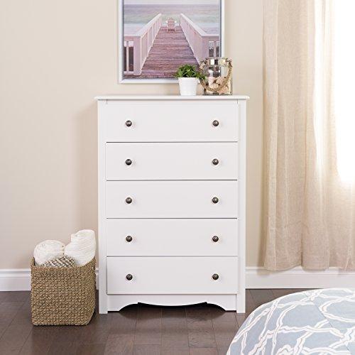 White 3 Drawer Dresser Chest - 6