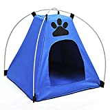 Dingang Newest Foldable Pet Kitten Cat Puppy Dog Mini Nylon waterproof Camp Tent Bed Play House Outdoor house Review