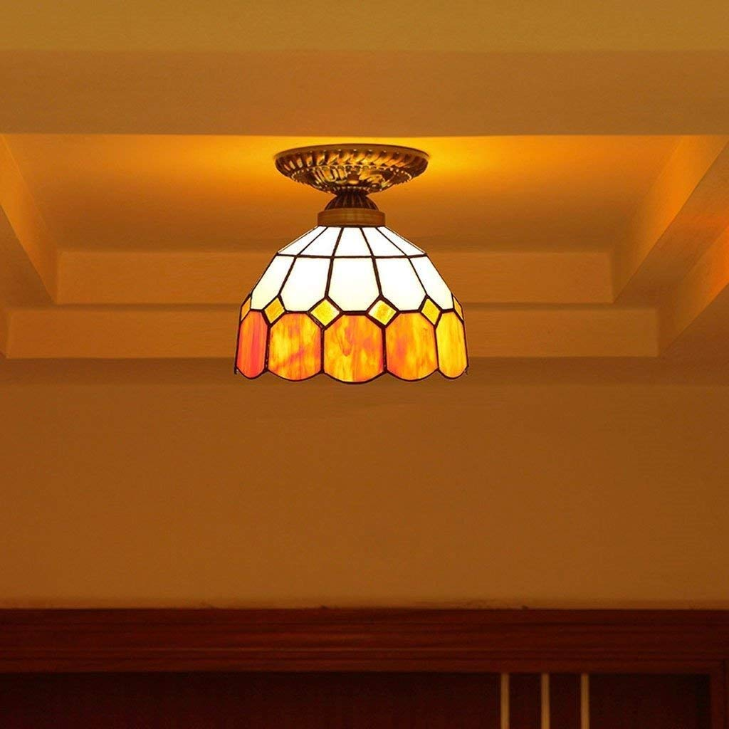 JU Gyy Home Hotel Illuminazione Lampadari Squisita Continental Camera Creativa Lampada da Soffitto Corridoio Mediterraneo colore Caldo Elegante Balcone Lampada da soffitto Corridoio E27