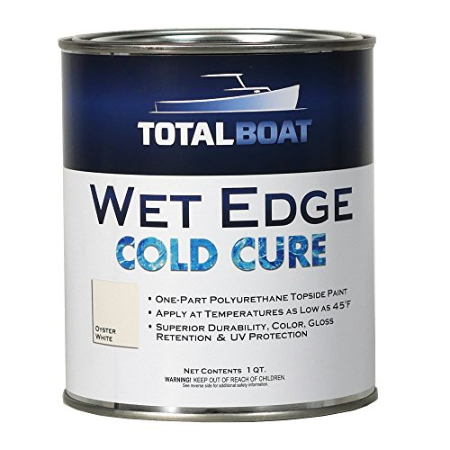 TotalBoat Wet Edge Cold Cure Marine Topside Paint (Oyster White, Quart) ()