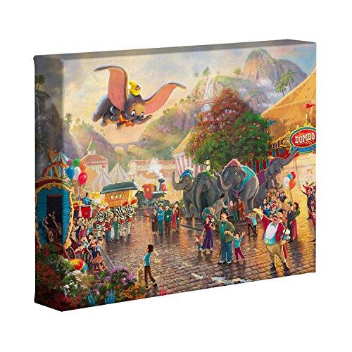 "Thomas Kinkade Disney Dumbo 8"" x 10"" Gallery Wrapped Canvas"