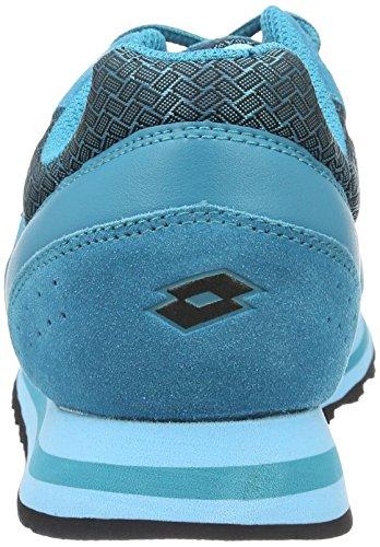 Lotto Trainer Viii Ny W, Zapatillas de Deporte para Mujer Azul (Grn Aga/Blu Skp)