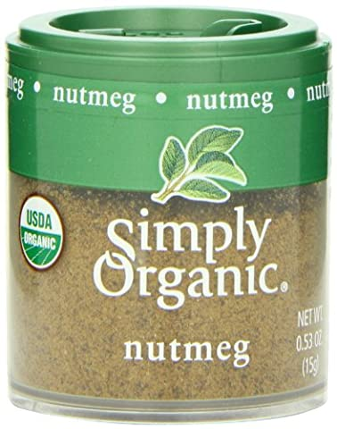 Simply Organic Nutmeg Ground Organic, Mini Spice, 0.53 Ounce (Pack of 6) - Nutmeg Spice