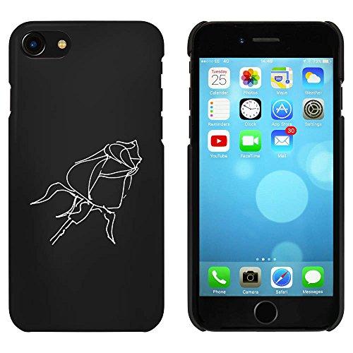 Noir 'Rose' étui / housse pour iPhone 7 (MC00067497)