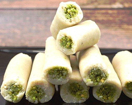 Neotea Tasty Delicious Kaju Pista Roll Dessert/Sweets (250g) (Pista Roll)
