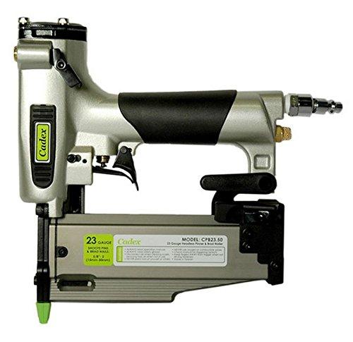 Cadex CPB23.50 2″ 23 Gauge Headless Pin & Brad Nailer with 6000 Pc Fastener Assortment