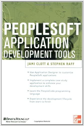 PeopleSoft Application Development Tools (Erp Series)
