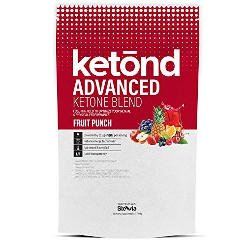 Ketond Advanced Ketone Supplement - 11.7g of goBHB per Serving (30 Servings) - #1 Rated BHB (Beta-HydroxyButyrate) Supplement for Weight Loss, Increased Energy, Focus & Fat Loss (Fruit Punch)