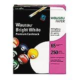Neenah Premium Cardstock, 96 Brightness, 65 lb, Letter, Bright White, 250 Sheets per Pack (91904) (2, 250 Sheet)