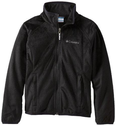 Columbia Big Girls'  Pearl Plush Full Zip Coat, Black, Large
