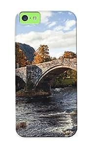 New Design Shatterproof FVMaXlF4434PhnlB Case For Iphone 5c (stone Bridge In The Village) For Lovers