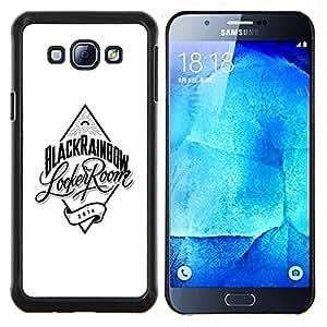 """Be-Star Único Patrón Plástico Duro Fundas Cover Cubre Hard Case Cover Para Samsung Galaxy A8 / SM-A800 ( Diamond Armario Blanco Negro"""" )"""