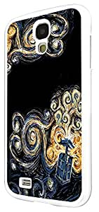 452 - doctor who tardis van gogh canvas Design For Samsung Galaxy S4 i9500 Fashion Trend CASE Back COVER Plastic&Thin Metal