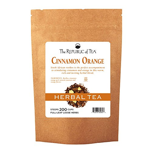 (The Republic Of Tea Cinnamon Orange Red Tea, Bulk Full-Leaf - 1 Pound / 250-260 Cups)