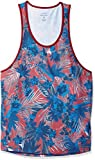A|X Armani Exchange Men's Tropical Abstract Tank, Rhubarb Jungle, XXL