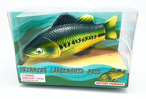 Large-Mouth Bass, Realistic Swimming Fish Water Pool, used for sale  Delivered anywhere in USA