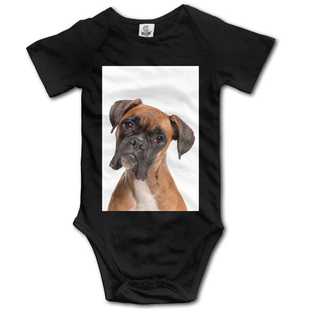 Zengjisheng Boxer Dog Unisex Newborn Baby Rompers Short Sleeve Jumpsuit Toddler Outfits