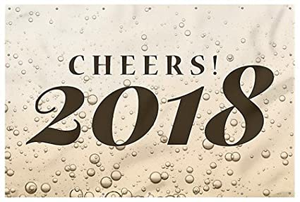 cgsignlab cheers new years 2018 heavy duty outdoor vinyl banner
